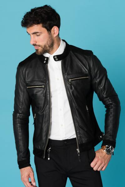 Blouson Homme Cityzen CALCUTTA DUO LEATHER BLACK 2018