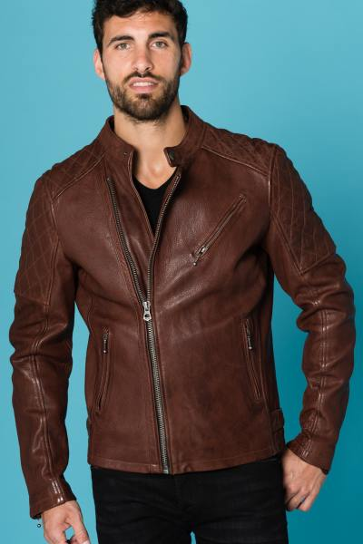 Blouson Homme Daytona TRUCKSTON COW VEG BRANDY
