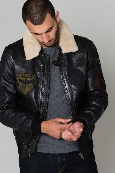 Blouson Homme Daytona MYTHIC FUR SHEEP PETROL BLACK