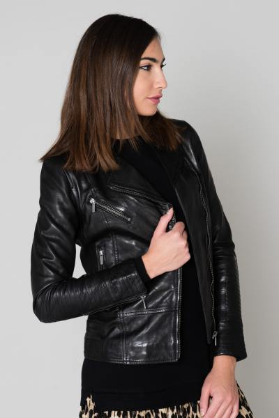Blouson Femme rose garden JULIETTE SHEEP AOSTA BLACK