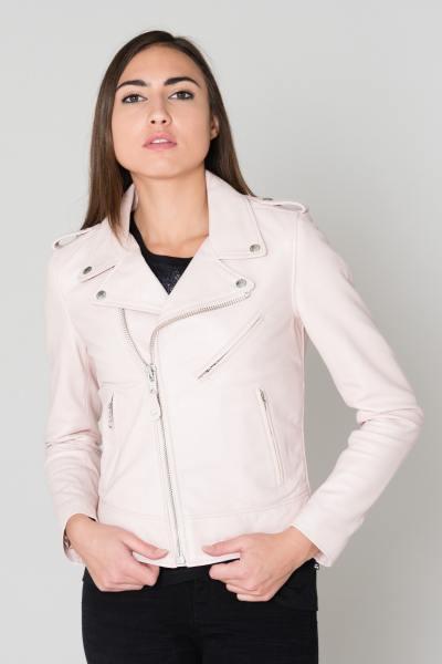 Perf femme en cuir rose               title=
