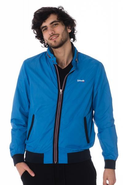 blaue Herren Nylon-Jacke für die Zwischensaion