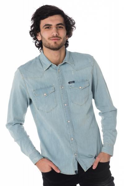 chemise en jean homme bleu diego bleach