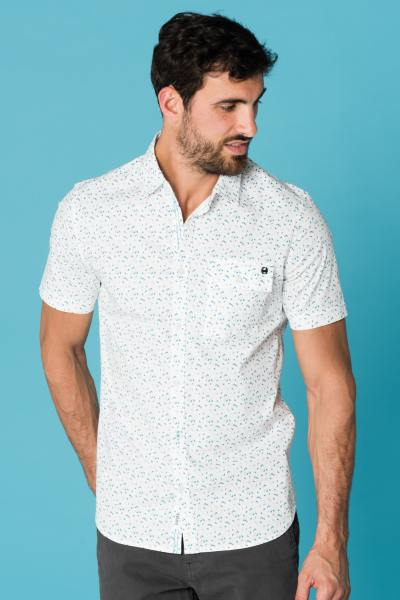 chemise homme manches courtes blanche rage white