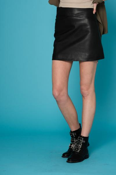 0b3b4ee3a6854b Jupes en cuir Femme - Robes cuir noir - CuirCity