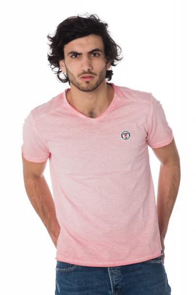 Tee Shirt Homme Kaporal BRUGE ROSE