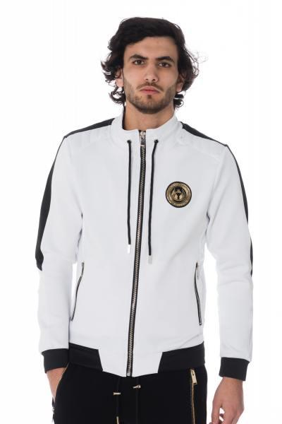 weiß-schwarze Herren Trainingsjacke