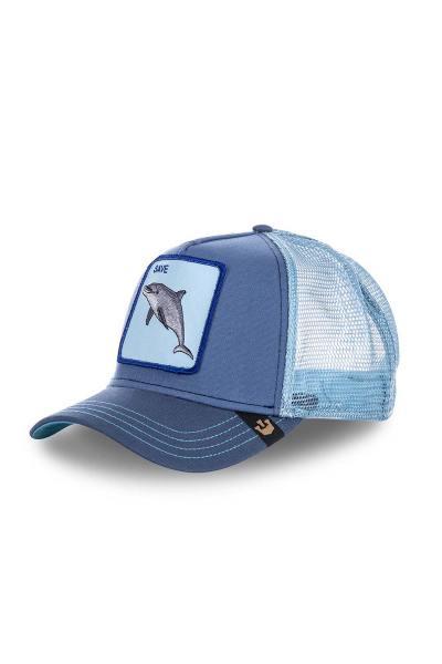 blaue Herren Kappe mit Delfin              title=