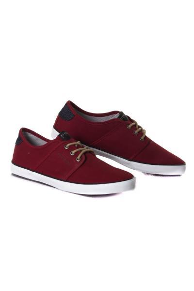 Chaussures en toile rouge homme              title=