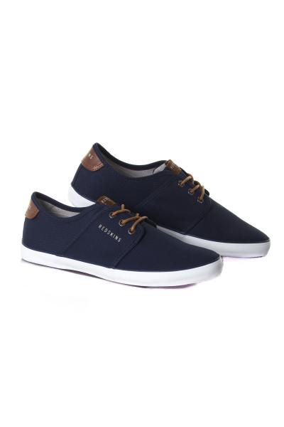 marineblaue Herren Canvas Sneakers              title=