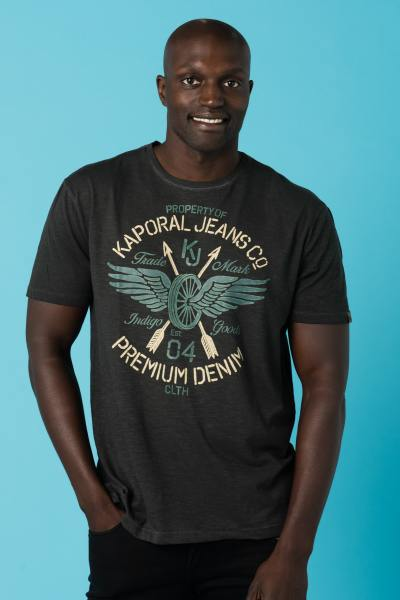 Tee Shirt Homme Kaporal BERNO BLACK
