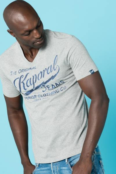 Tee Shirt Homme Kaporal BRUCE MEDIUM GREY CHINE