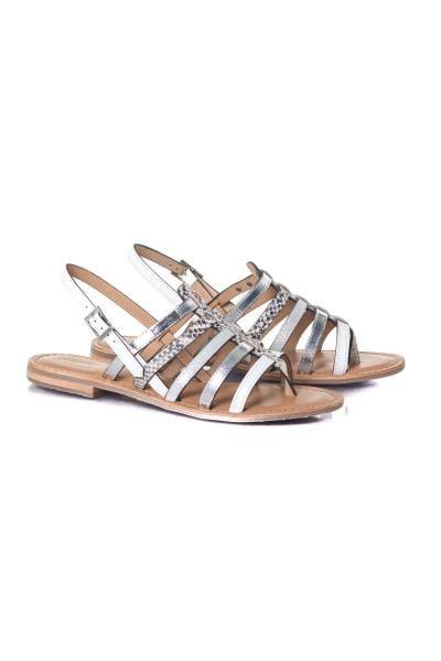 Chaussures été blanche et argentée              title=