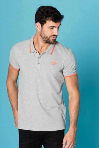graues Herren Polo-Shirt