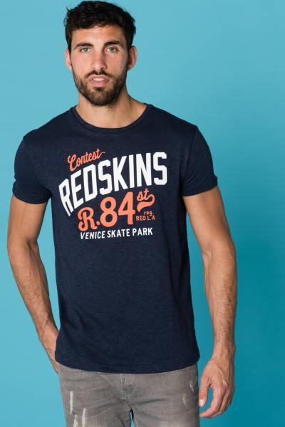 Tee Shirt Homme Redskins COCYP FLAMES INDIGO