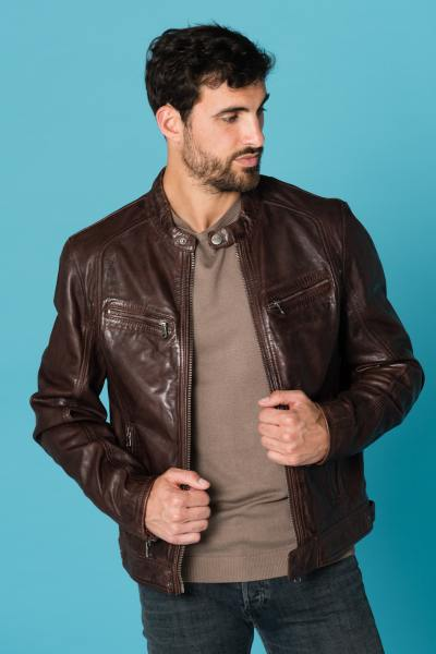 Blouson Homme Daytona DUSTIN SHEEP TIGER WINE BROWN