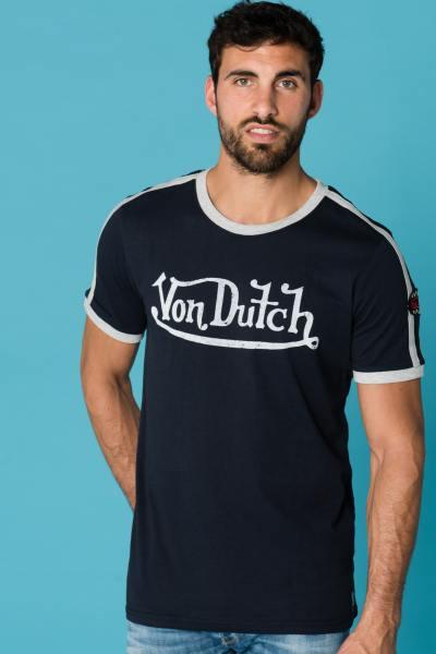 schwarzes Herren T-Shirt mit Markenlogo