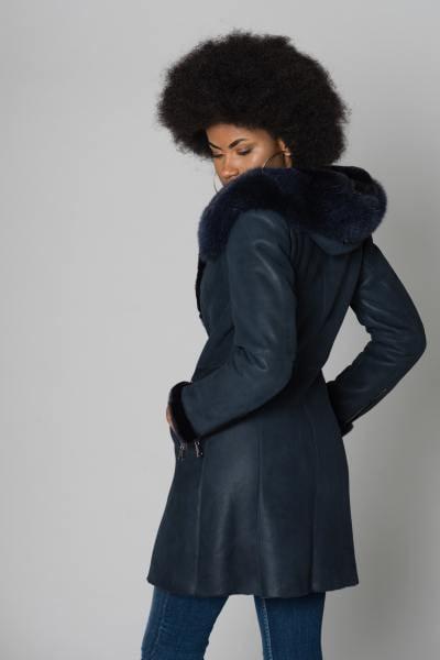 Veste longue peau lainée merinos