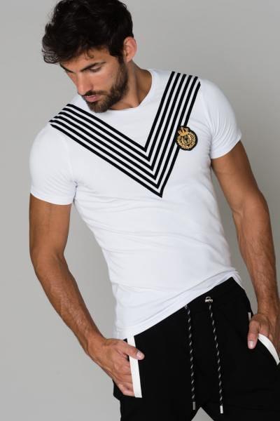 Weißes Baumwoll-T-Shirt              title=