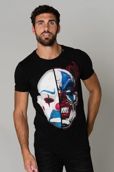 T-Shirt Clown Kopf Strassstein