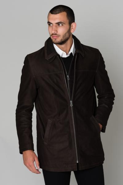 Braune Lederjacke aus Rindsleder
