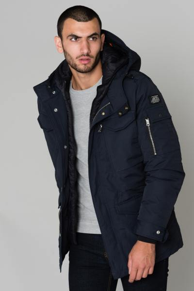 Veste Homme Schott SMITH18 NAVY BLACK