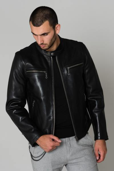 Blouson Homme Daytona IRON COW SEMI VEG BLACK