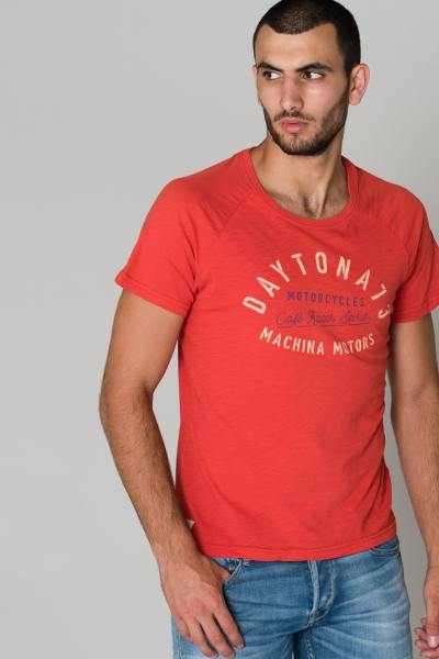 Tee Shirt rouge manches courtes