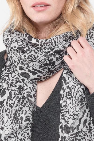 Schwarz-weißer Schal für Frauen              title=