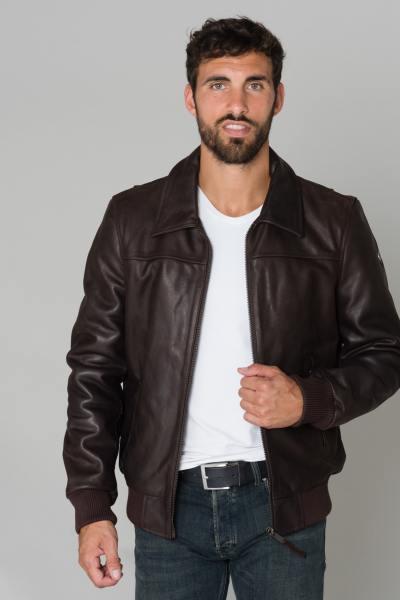 Braune Lederjacke für Männer
