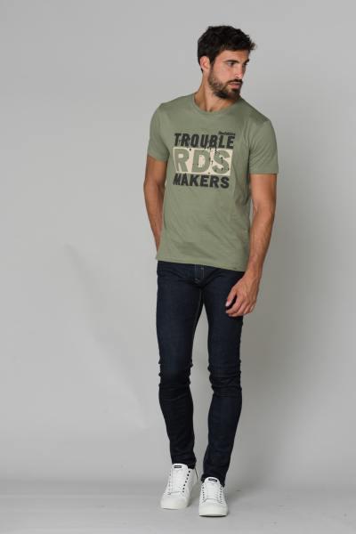 T-shirt coton kaki homme              title=