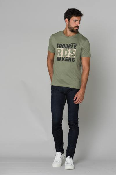 Tee Shirt Homme Redskins TRIBUT HONDA KHAKI