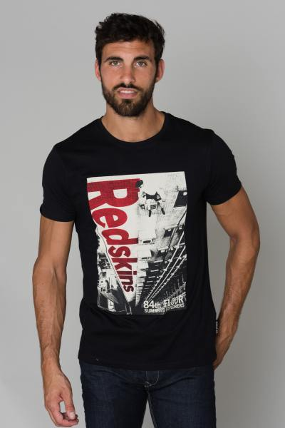Tee Shirt Homme Redskins FLOOR HONDA BLACK