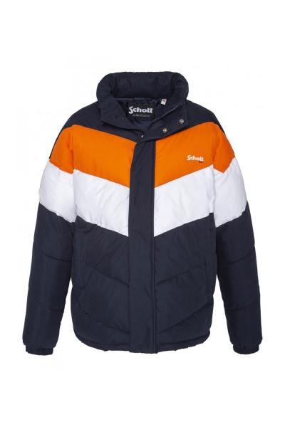 Blouson Mixte Schott NEBRASKA2 NAVY/ORANGE/WHITE