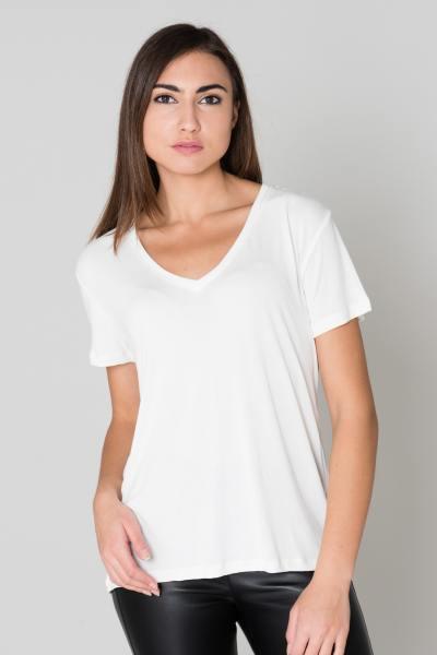 Tee shirt femme col en V              title=