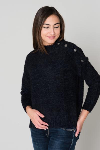 Pull/Sweatshirt Femme Le temps des Cerises PULL F KAE MIDNIGHT MELANDE