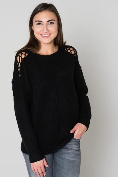 Übergroßer schwarzer Pullover              title=
