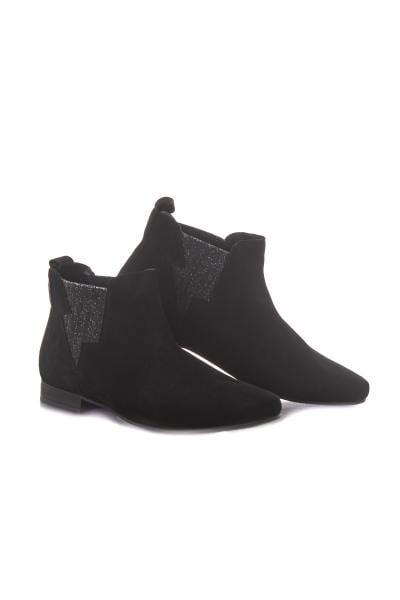 Chaussures en daim noires              title=