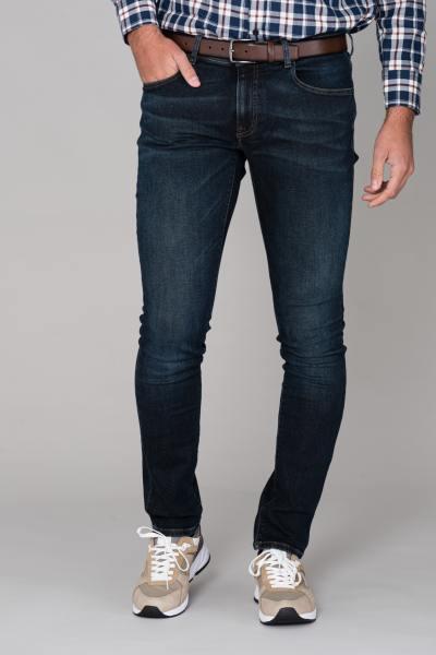 Jean bleu homme en coton