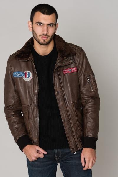 Blouson Homme Gipsy CRUISE W19 LNVV DARK BROWN