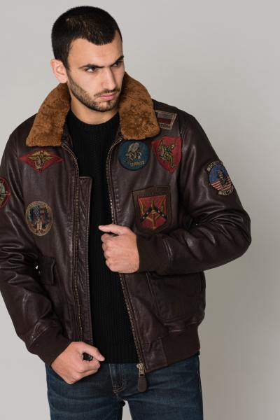 Blouson Homme top gun BOMBER TG 1014 BROWN 28