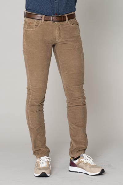 Pantalon en velours homme beige foncé              title=