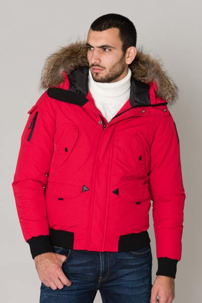 Blouson Homme Helvetica ANCHORAGE MEN RACCOON ED RED 2K20
