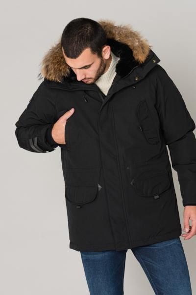 Blouson Homme Helvetica EXPEDITION MEN RACCOON ED BLACK 2K20