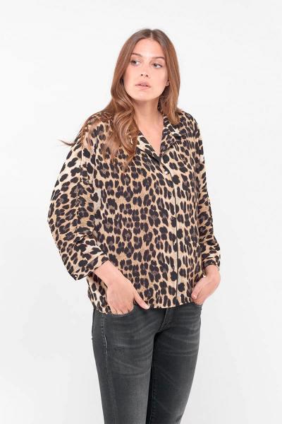 Leopard bedruckte Bluse              title=