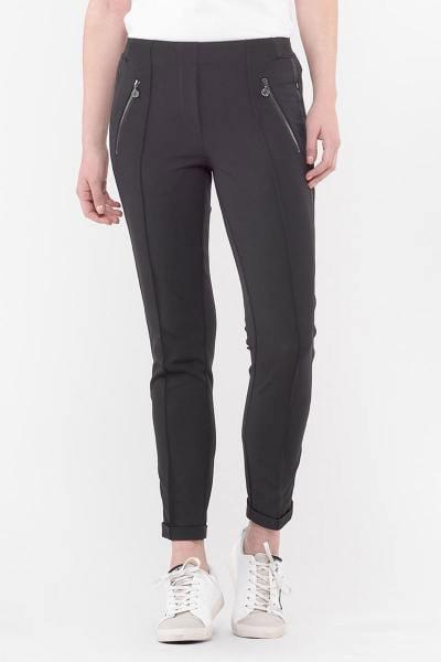 Pantalon polyester noir femme              title=