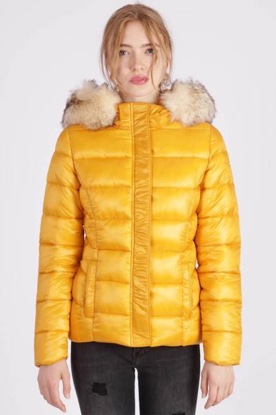 Doudoune femme jaune polyamide              title=
