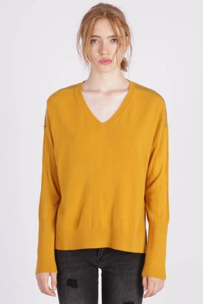 Pull jaune coupe loose              title=
