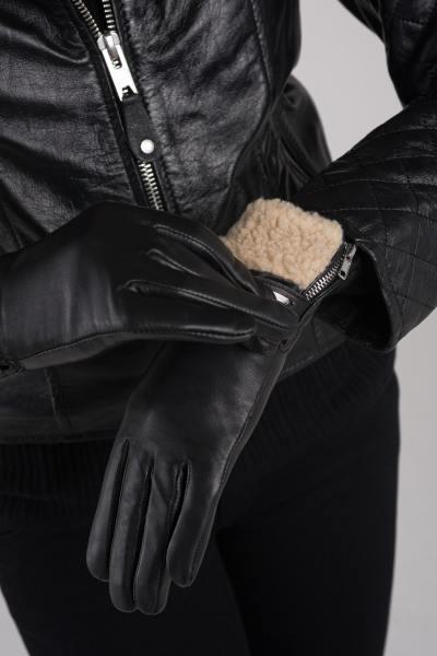 Damenhandschuhe schwarz               title=