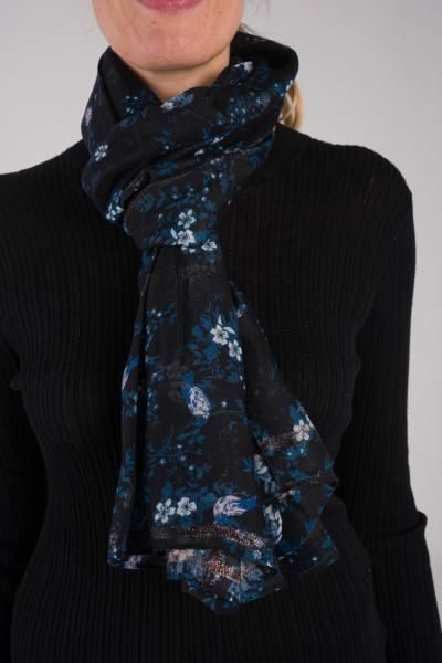 Foulard avec motif noir              title=